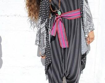 Black Folklore Harem Adjustable Jumpsuit