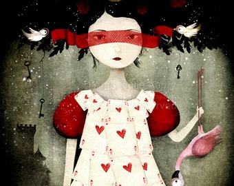 The Queen of Hearts 41/100 - Deluxe Edition Print - Whimsical Art