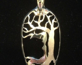 Women in the Tree, Silverware Spoon Jewelry