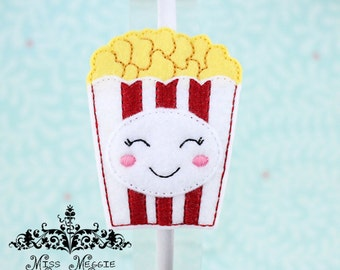Circus Popcorn headband slide on ITH Embroidery design file