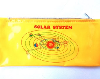 "Pouch for pens ""Solar System"" made in Hong Kong, 1970s"