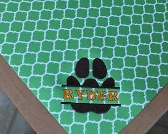 Personalized Dog Placemats - Pet Placemat - Embroidered Mat