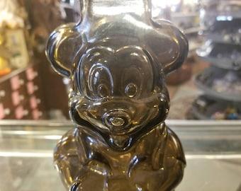 Vintage Walt Disney Productions Mickey Mouse Club Glass Still Bank
