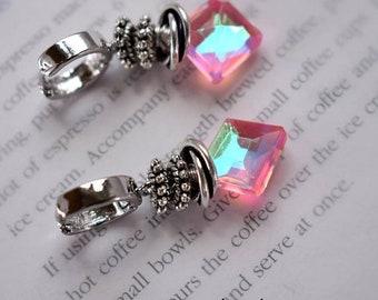 earrings, quartz earrings, pink earrings, sterling silver earrings, bohemian earrings, boho chic earrings, Christmas for her, pink earrings