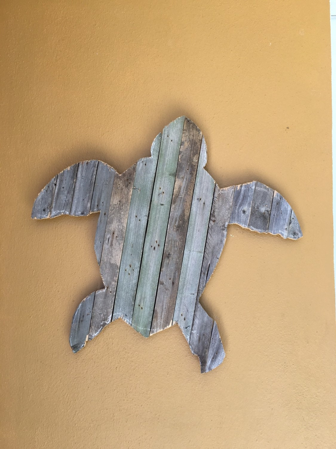 Sea Turtle recycled pallet wood wall hanging