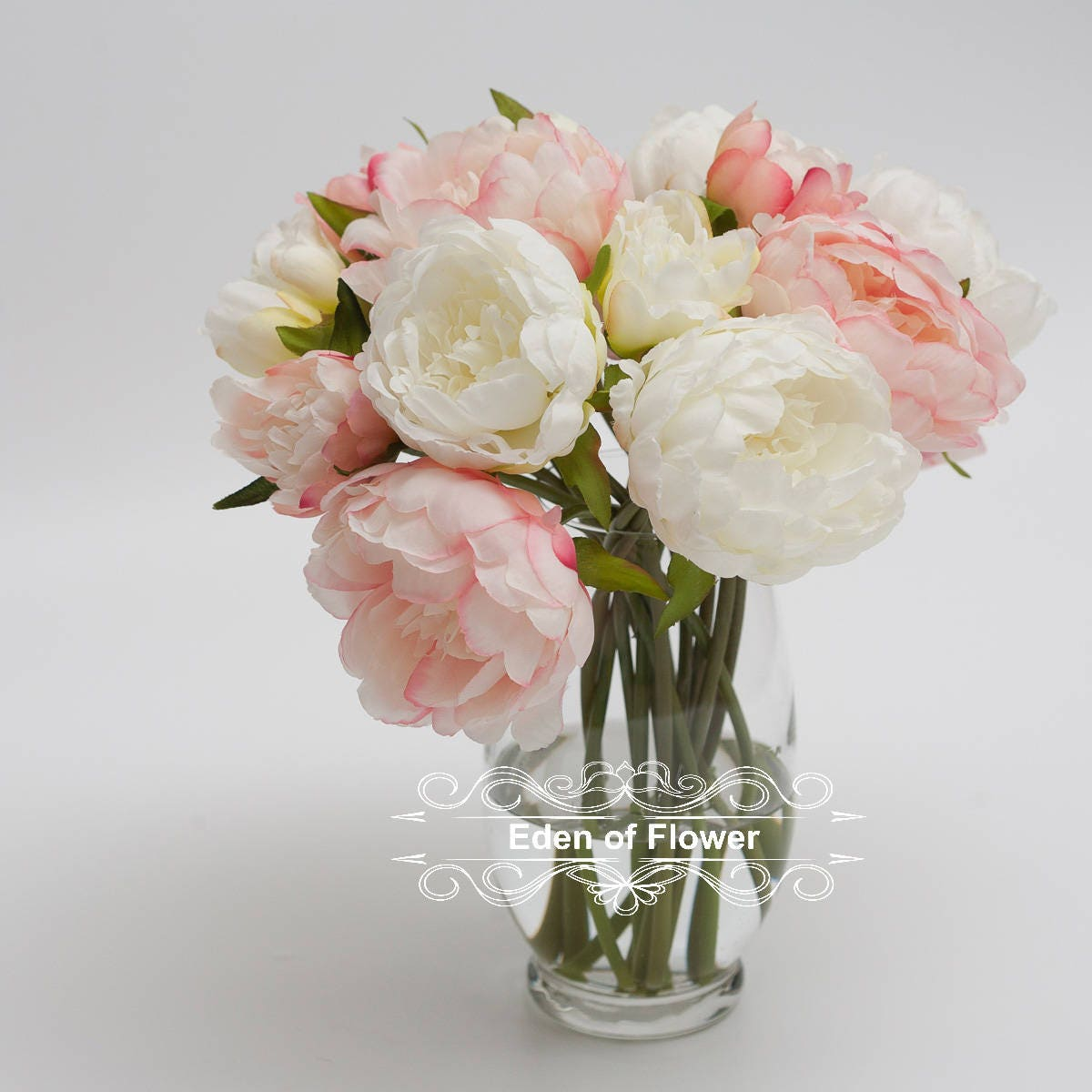 Pink Silk Peony Flowers for Wedding Bridal Bouquets, Home Decoration ...