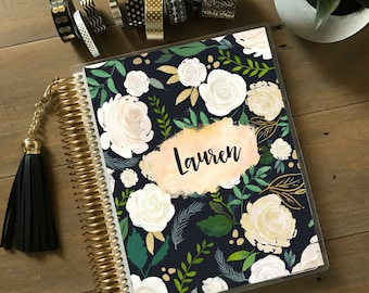 Original Stylish Planner™ Cover Set - Black Floral: For use with Erin Condren Life Planner(TM), Happy Planner and Recollections Planner