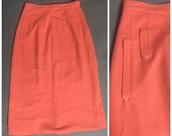 vintage 50s skirt / 1950s skirt / 1960s skirt / pencil skirt / wool skirt / wiggle skirt / pencil skirt 8091