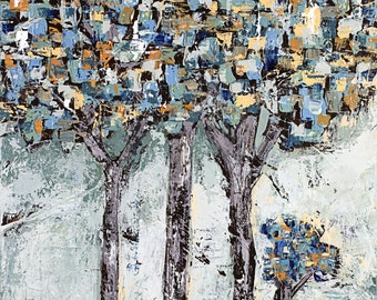 """Tree, canvas, painting, abstract art,  3/4"""" thick canvas, Waiting To Be Seen"""