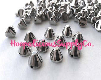 25pcs Acrylic Studs. Sew or Glue. 8mm Cropped Cone Studs.Available in Gold,Silver,Brass,Gun Metal.FAST Shipping from w/Tracking 4 US Orders.