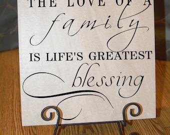 Love of a Family Ceramic Tile