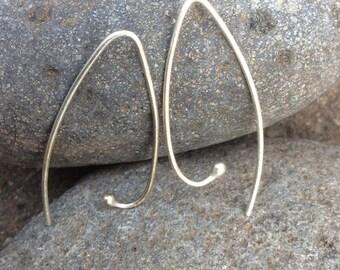 Simple Sterling Silver Earrings, Pick a shape!