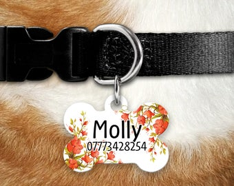 Personalised Pet Id Tag - Personalised Dog Tag - Custom Pet Id Tag - Poppy Dog Name Tag - Dog Id Tag - Dog Collar Name Tag