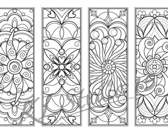 Bookmark coloring | Etsy