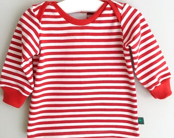 NEW! Striped baby top, toddler top, baby clothes, baby gift, toddlers clothes, baby shirt, baby t shirt, baby gift, pirates, red and white