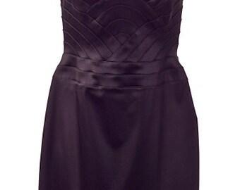 Black Sateen Halter Dress (Never Worn)