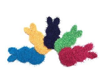 Set of 2 Crochet Dish Scrubbies, Bunny Rabbit Crochet Scrubbies, Scrubby, Pot Scrubber, Eco Friendly Kitchen Scrubby, Cleaning