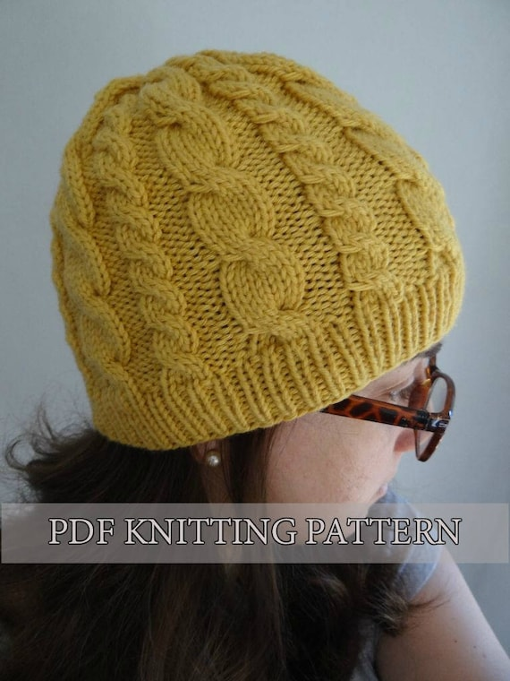 Almost Free Knitting Pattern Easy Cable Hat Knitted Hat
