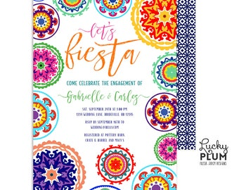 Fiesta Engagement Invitation / Fiesta Couples Shower Invitation / Fiesta Wedding Shower Invitation / Mexican / Printable Digital FT01