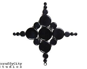 Black Agate Double Flare Plugs