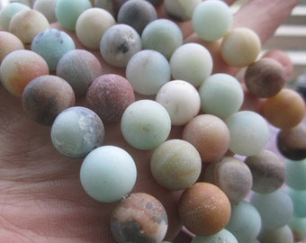 Free shipping 6mm 8mm 10mm Matt Natural Amazonite stone beads Forest Loose beads 1 string about 40cm JC0139