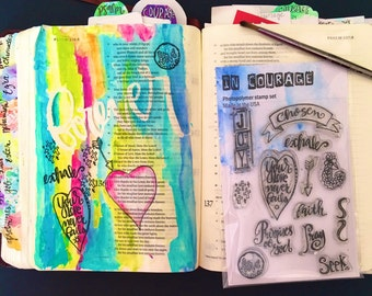 Clear Stamp Set Joy perfect For BibleJournaling, Cardmaking or Art Journals.
