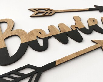 Custom Name Plaque- Wood | Nursery & Kids Decor