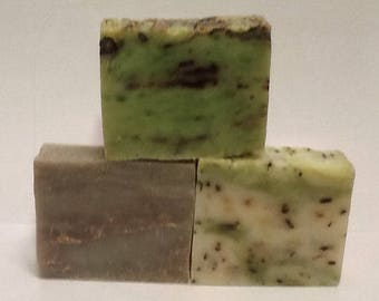 3 Full Size Soap Bars for 12.75 Your Choice of Soap