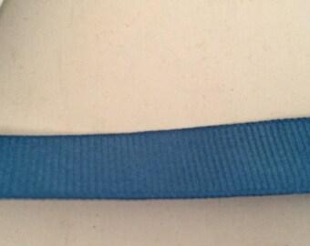 Ribbon grosgrain Blue 1.5 cm wide