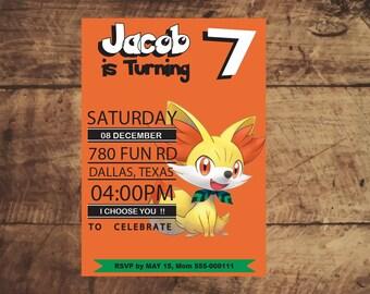 Pokemon Invitation, Pokemon Birthday Invitation, Pokemon Party Favors, Pokemon Birthday Party, Invitations Printable