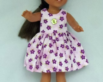 Flowers, Flowers and More Flowers Doll Dress Handmade To Fit 14.5 Inch Dolls Like Wellie Wishers