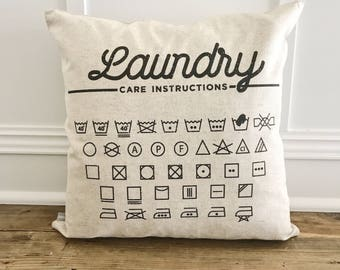Laundry Care. Pillow Cover (White)
