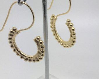 gold plated dangle earrings,gypsy earrings,tribal earrings,boho earrings,gold earrings,