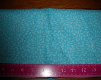Destash- Over 1 Full Yard Of Blue Petal Print Cotton Quilting Fabric