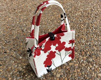 Cream Cherry Blossom Mini Box Bag