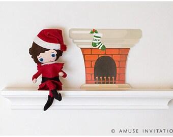 Elf Magic Chimney, Elf Magic North Pole Door, Christmas Elf Accessories, Santas Elf Prop, Elf Printable, Christmas Elf Ideas, Easy Elf Ideas