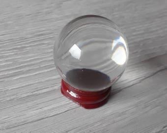 Clear glass crystal ball