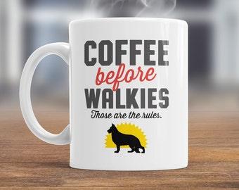 German Shepherd Mug, German Shepherd Gift For The German Shepherd Lover Who Also Loves Coffee, German Shepherd Coffee Mug, Dog Lover Gift