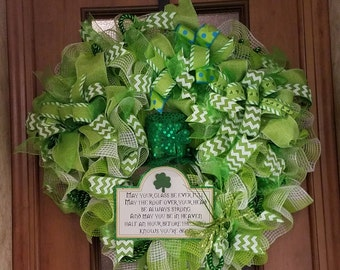 Top Hat St Patrick's Day Wreath