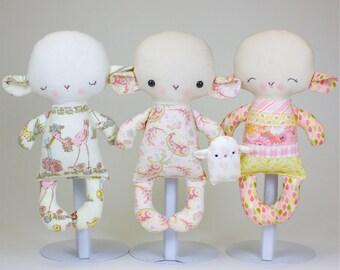 SALE Lamb Baby PDF Doll Pattern