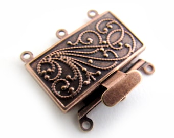 Copper Scroll Clasp