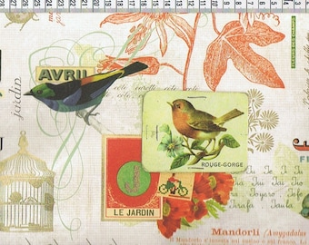 Paper ROSSI - BIRDS - made in Italy