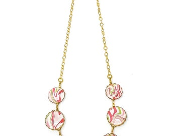 Necklaces, Pink and Green Necklace