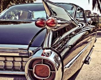 1959 Cadillac Coupe de Ville Car Photography, Automotive, Auto Dealer, Classic, Fin, Mechanic, Boys Room, Garage, Dealership Art