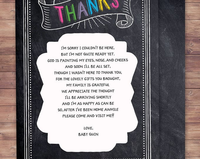 Thank you, Tacos and Tutus, chalkboard couples co-ed Baby Shower BBQ  - babyq - baby is brewing, baby girl shower, fiesta, Mexican
