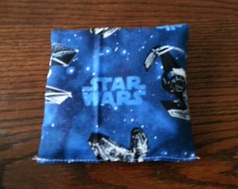 Boo Boo Packs, Ouch Pouch, Reuseable Hot or Cold Packs, Kids Ice Pack, Handwarmers, Heating Pad, Set of 2,  Star Wars Fabric ! !