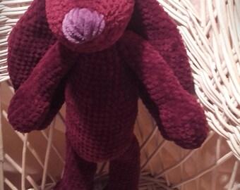 Crochet Bunny Purple Bunny Crochet toy  Gift Szydełkowy Królik