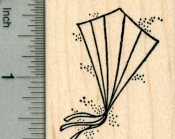 Kite Rubber Stamp, Spring Series G30122 Wood Mounted