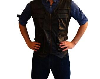 Halloween Costumes Mens Costume Vest (perfect for Explorer Costumes, Dinosaur Costumes, Jurassic World Costumes, Chris Pratt Costumes)