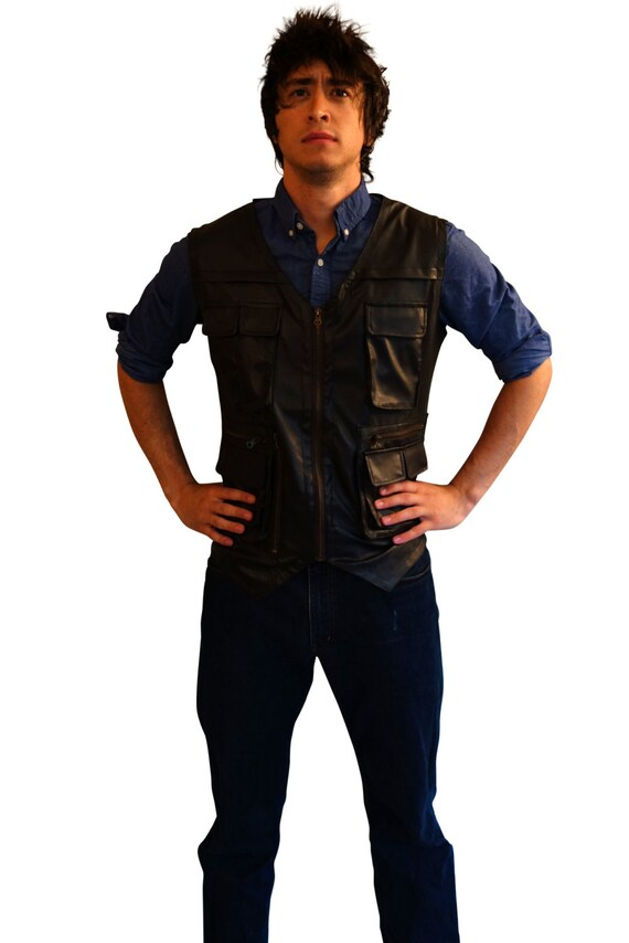 Halloween Costumes Mens Costume Vest (perfect for Explorer Costumes, Dinosaur Costumes, Jurassic World Costumes, Chris Pratt Costumes)